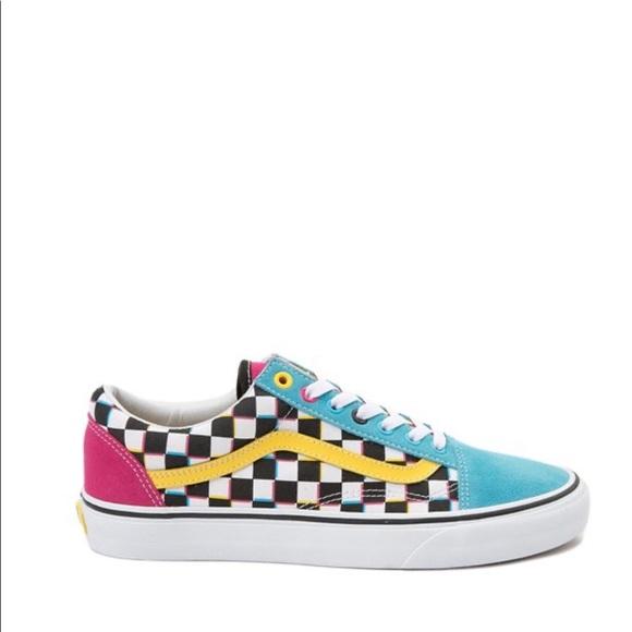 Old Skool Checkerboard Skate Shoe Multi